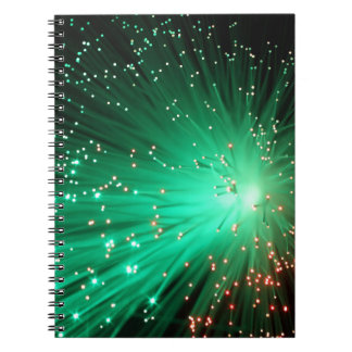 照らされた光ファイバー ノートブック