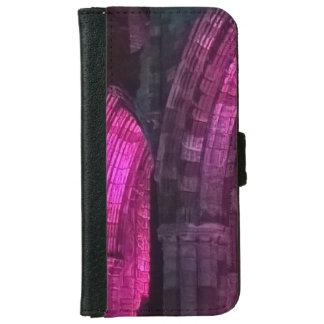 照らされるゴシック様式アーチのWhitbyの大修道院 iPhone 6/6s ウォレットケース