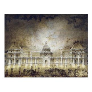 照らされるルクセンブルク宮殿 ポストカード