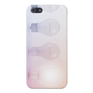 照らされる電球との創造的思考 iPhone SE/5/5sケース