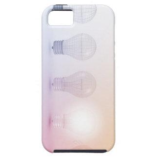 照らされる電球との創造的思考 iPhone SE/5/5s ケース