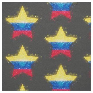 照るコロンビアの旗 ファブリック