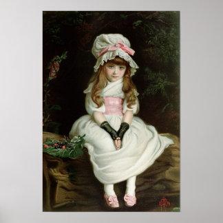 熟したさくらんぼ1879年のd ポスター