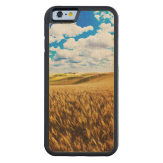 熟したムギのローリング・ヒルズ CarvedメープルiPhone 6バンパーケース