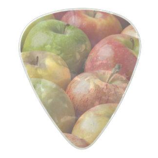 熟した及びカラフルなりんご- パールセルロイド ギターピック