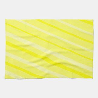 熟した黄色いスマイルの明るい日曜日月曜日タオル キッチンタオル