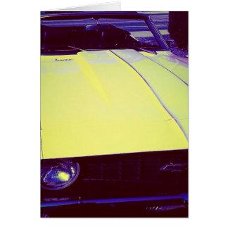 熟した黄色いChevy Camaroの挨拶状 カード
