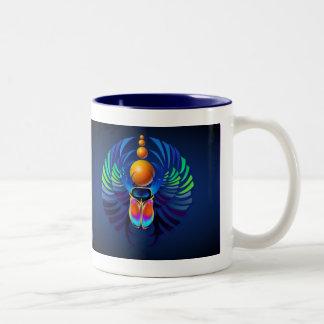 熱いオオタマオシコガネの暗い楕円形のマグ ツートーンマグカップ