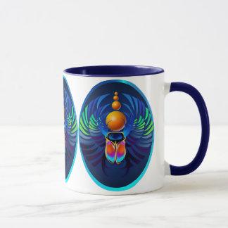 熱いオオタマオシコガネの暗い楕円形のマグ マグカップ