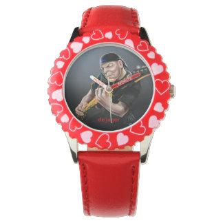 熱いギタリストの腕時計 腕時計