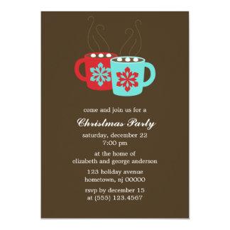 熱いココア休日のパーティの招待状 カード