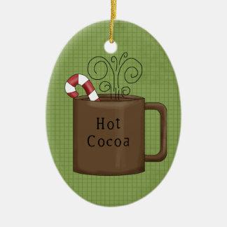 熱いココア陶磁器のクリスマスのオーナメント セラミックオーナメント