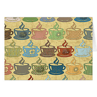 熱いコーヒーか茶 カード