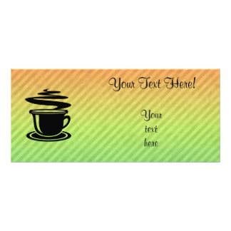 熱いコーヒーデザイン ラックカード