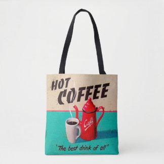 熱いコーヒー トートバッグ