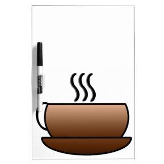 熱いコーヒー・マグ ホワイトボード