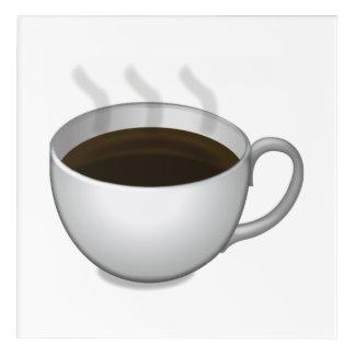 熱いコーヒー- Emoji アクリルウォールアート