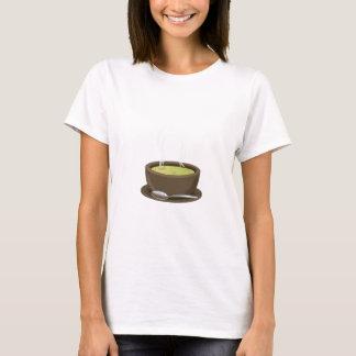 熱いスープベクトル Tシャツ