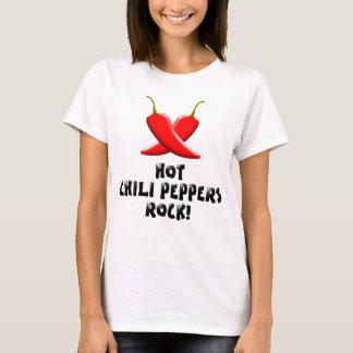 熱いチリペッパーの石! 女性のTシャツ Tシャツ