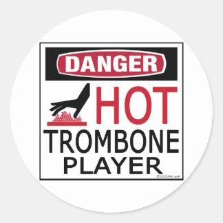 熱いトロンボーンプレーヤー ラウンドシール