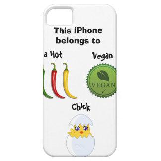 熱いビーガンのひよこのiPhoneの場合 iPhone SE/5/5s ケース