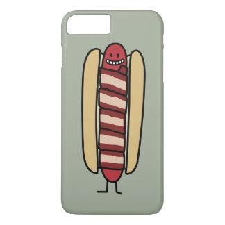 熱いベーコンの包まれたなホットドッグ iPhone 8 PLUS/7 PLUSケース