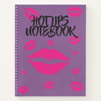 熱い唇のノート ノートブック
