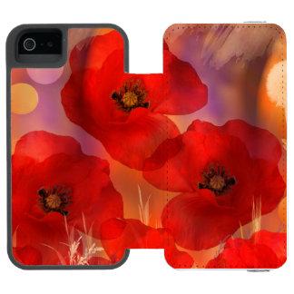 熱い夏のケシ INCIPIO WATSON™ iPhone 5 財布 ケース