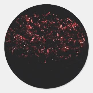 熱い燃え差し(6)の大きいステッカー鍋のシート ラウンドシール