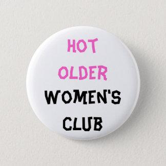 熱い老女のクラブボタン 缶バッジ