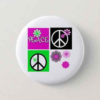 熱い色の平和 缶バッジ