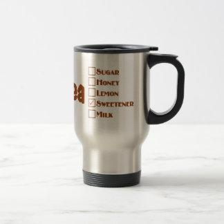 熱い茶のためのお母さんの名前入りなマグ/タンブラー トラベルマグ