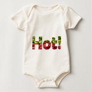 熱い赤唐辛子のワイシャツ ベビーボディスーツ