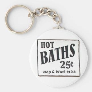 """""""熱い風呂25セント""""のヴィンテージ1950の印Keychain キーホルダー"""