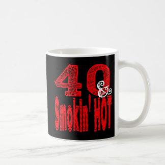 熱い40および煙ること コーヒーマグカップ