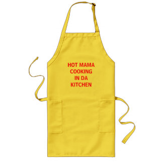 熱いCOOKING DAママの台所 ロングエプロン