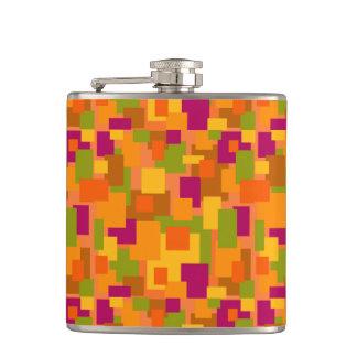 熱いtoddyか。 秋パッチ2の抽象美術のフラスコ フラスク