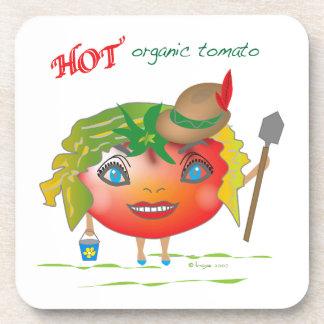 熱くオーガニックなトマト コースター