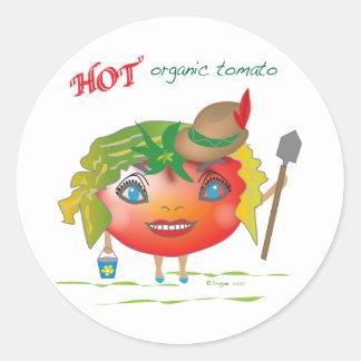 熱くオーガニックなトマト ラウンドシール