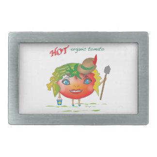 熱くオーガニックなトマト 長方形ベルトバックル