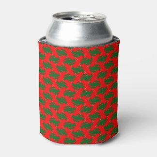 熱く赤いおよび緑の涼しいクーラーボックス 缶クーラー
