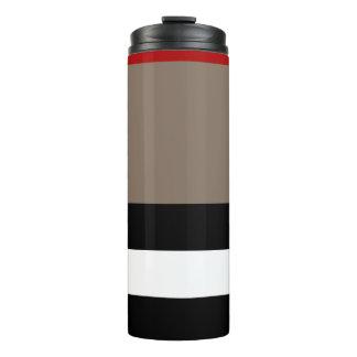熱タンブラー-ベージュ色ストライプ タンブラー