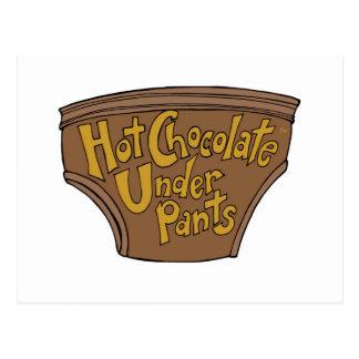 熱チョコレート下着ロゴ第1草案2 29 2016. ポストカード