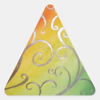 熱帯ねじれのアールヌーボー 三角形シール