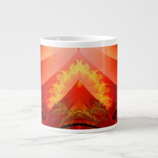 熱帯の寺院 ジャンボコーヒーマグカップ
