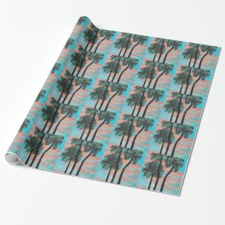 熱帯やし日没の包装紙 ラッピングペーパー