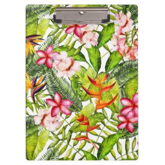 熱帯アロハエキゾチックなジャングルの花 クリップボード