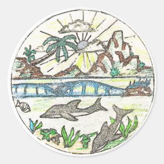 熱帯イルカ ラウンドシール