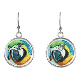 熱帯オウムのイヤリングのカラフルなコンゴウインコの鳥のギフト イヤリング