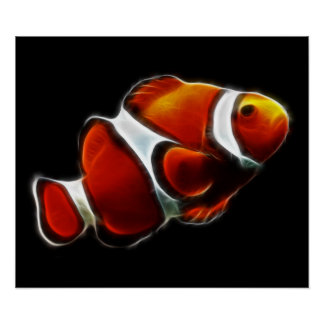 熱帯オレンジClownfishのピエロの魚 ポスター